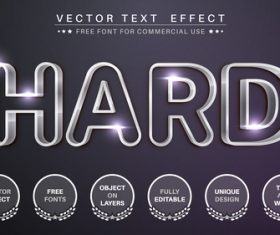 Hard metal vector text effect