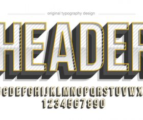 Header typography graphic style vector text effect