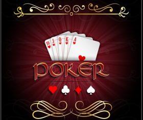 Hearts poker vector