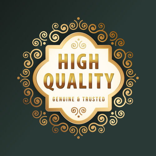 High quality label design vector