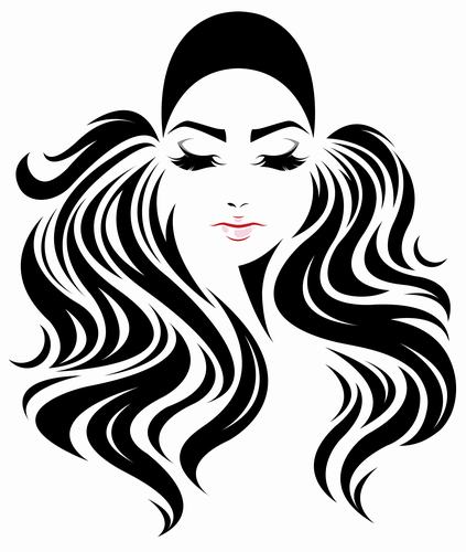 Hipster hairstyle girl vector
