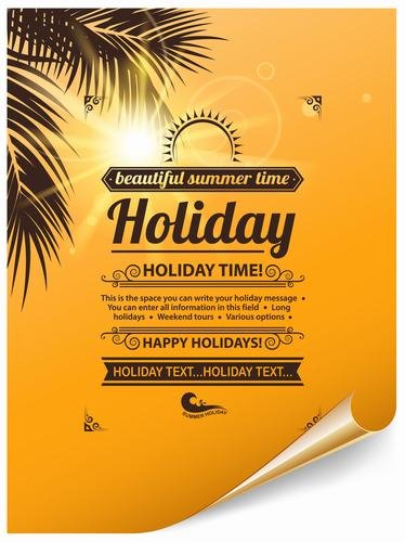 Holiday paper vector
