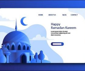 Holiday website page design vector