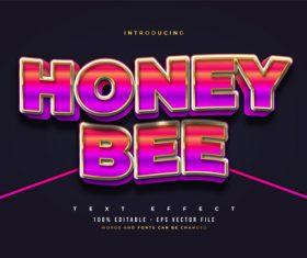 Honey bee style text vector