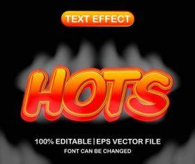 Hots text effect vector