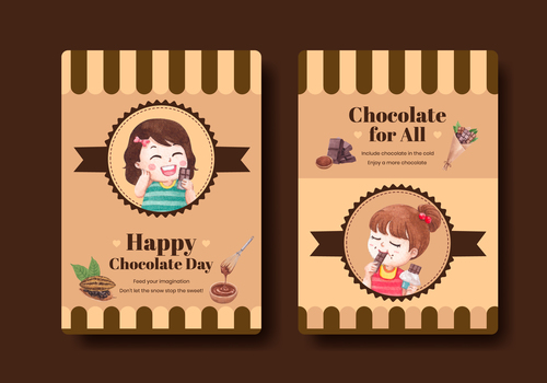 I love chocolate flyer vector