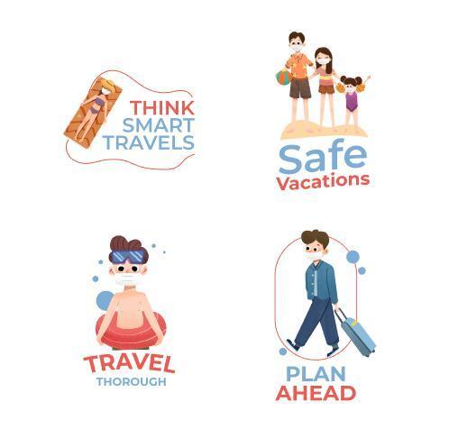 Illustration Covid 19 prevention concept vector