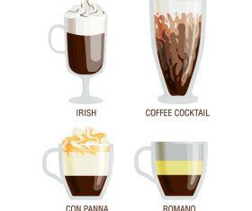 Irish coffee vector