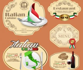 Italian restaurant label vector