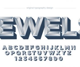Jewels typography graphic style vector text effect