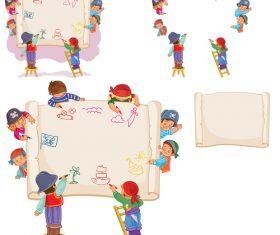 Kids dream cartoon vector