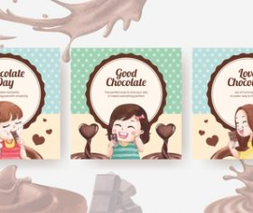 Kids love to eat chocolate banner vector
