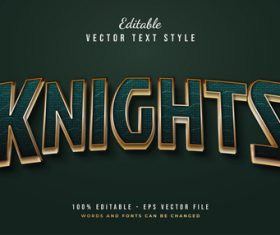 Knights text font style vector