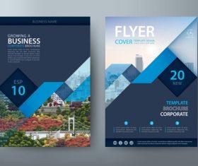 Landscape cover company brochure vector