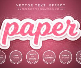 Layer paper vector text effect