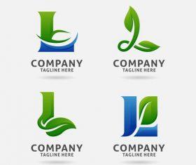 Letter L leaf logo design vector