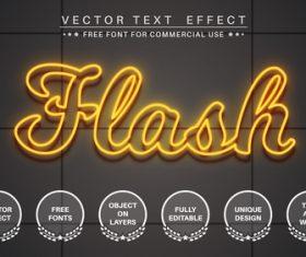Light vector text effect