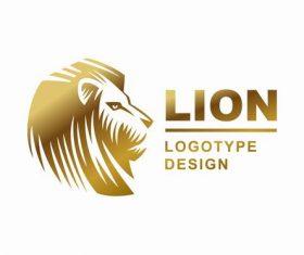 Lions logotype design vector