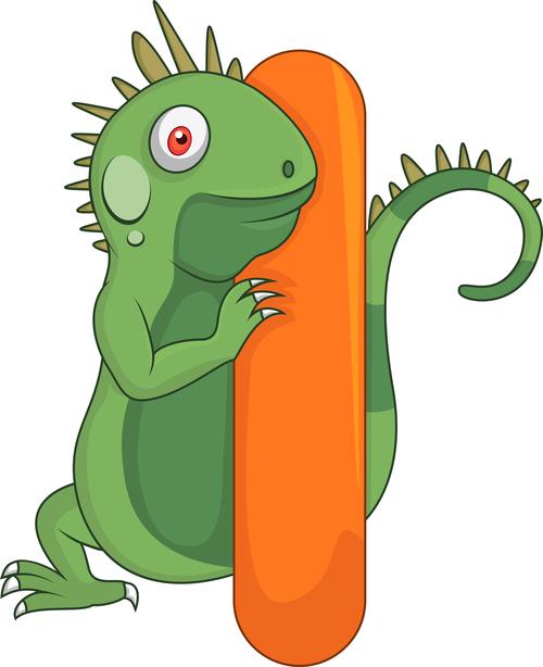 Lizard and alphabet vector