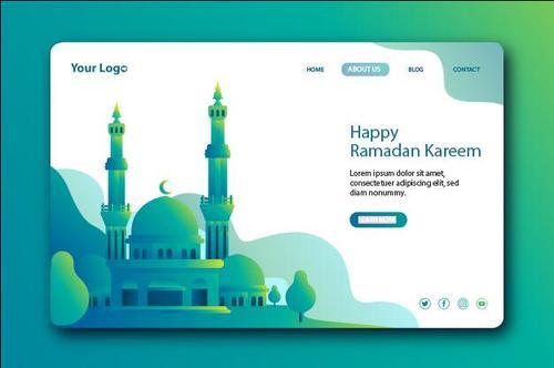 Login website page design vector