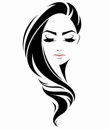 Long haired girl vector