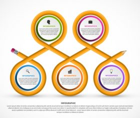 Looped infographic vector