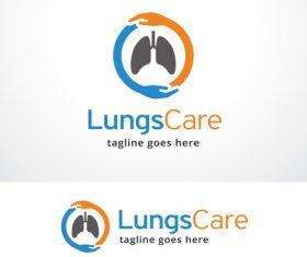 Lungs Care logo vector