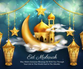 Luxury eid mubarak background vector