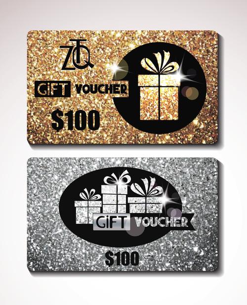 Luxury gift voucher vector