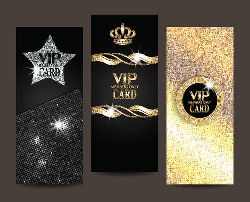 Luxury gold powder VIP card vector