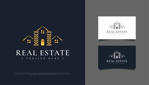 Luxury real estate logo vector design