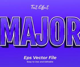 Major text effect vector