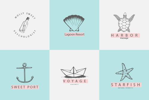 Marine Logos vector