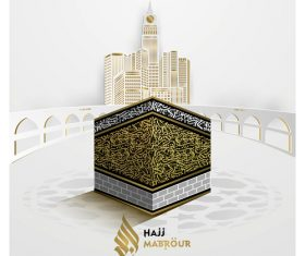 Mecca Hajj background vector