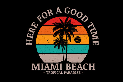 Miami beach tropical paradise vector