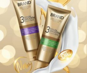 Minute smooth treatment conditioner advertisement vector