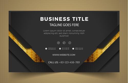 Modern business banner vector