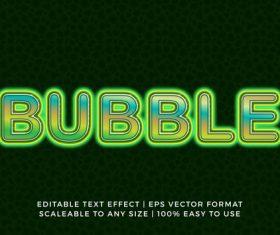 Modern green light title text effect vector
