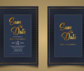 Modern wedding invitation vector card