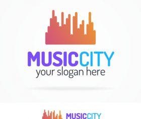 Music city logo vector
