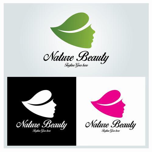 Nature beauty logo vector
