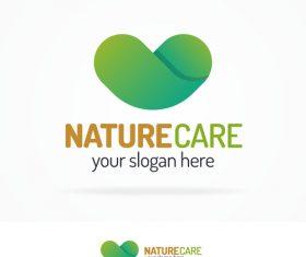 Nature care logo vector.
