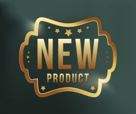 New product label design vector