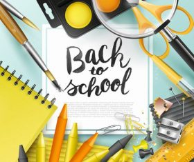 New square back to school vector