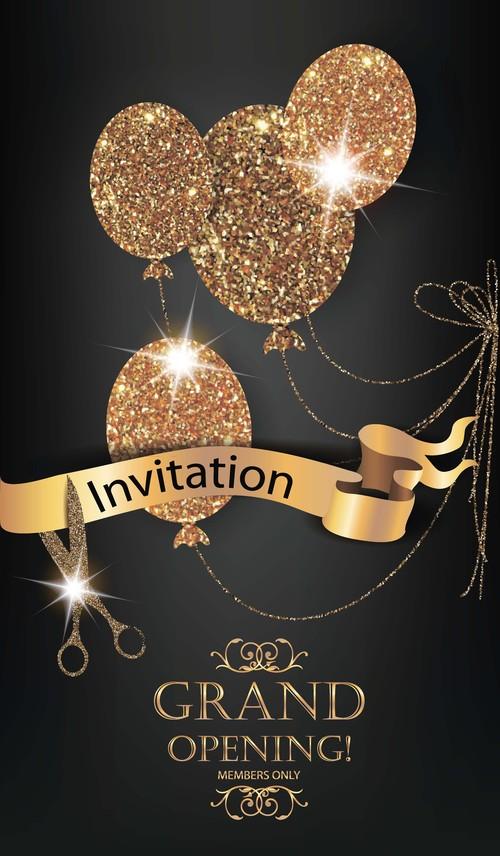 Nice invitation card vector