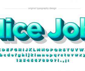 Nice job typography graphic style vector text effect