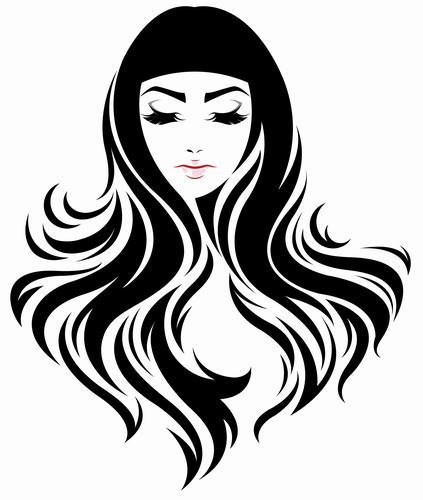 Nice long haired girl vector