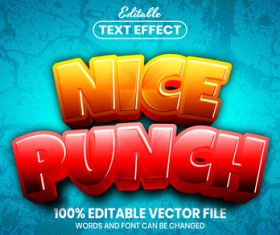 Nice punch text font style vector