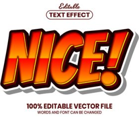 Nice text font style vector
