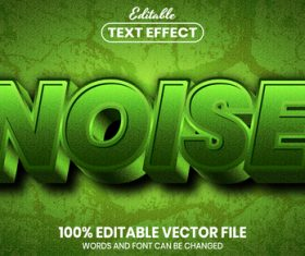 Noise text font style vector